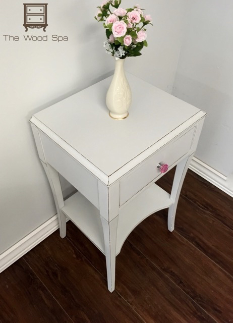 Pink Bedside Table: White And Pink Bedside Table