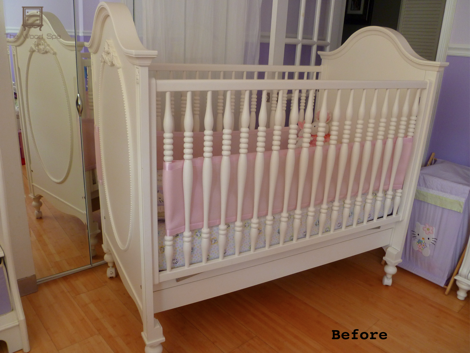 Gold crib for sale - Her Baby S Room Will Be White And Coral She Wanted Me To Find A Match For Pottery Barn Simply White And I Was Lucky Enough To Find It In 5 Minutes