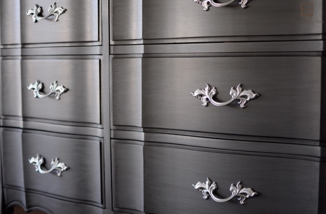 Drawer Pulls: Clean With Soapy Water And Spray Paint Them With Rustoleum  Silver