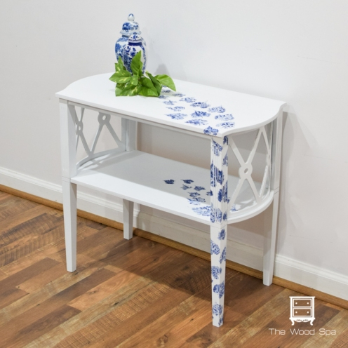 White and blue side table-1-4