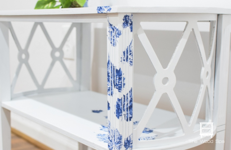 White and blue side table-1-7