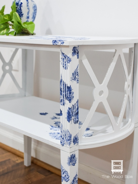 White and blue side table-1-9