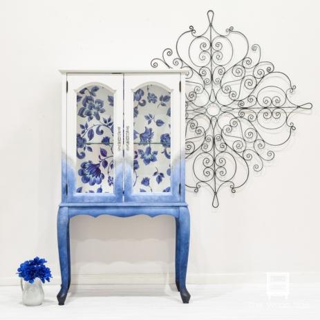Blue Flowers Cabinet-1-1