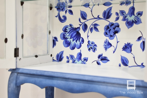 Blue Flowers Cabinet-1-2