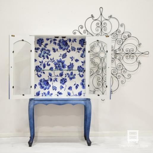 Blue Flowers Cabinet-1-4